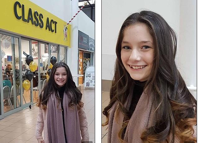 Menina ganhou um dia no salão de beleza e ficou ainda mais linda (Foto: Reprodução Facebook)