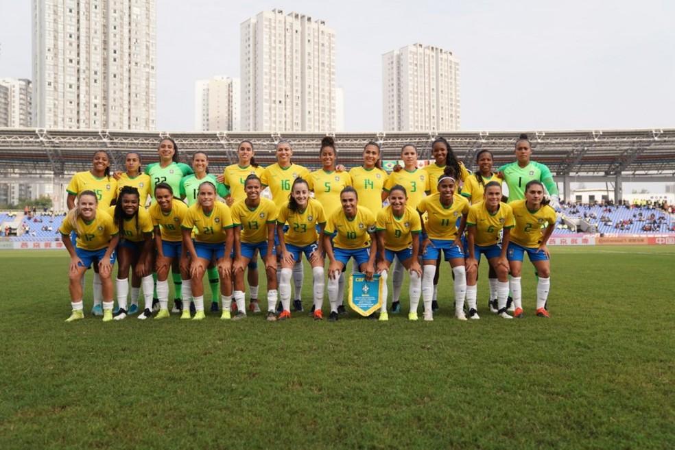 Seleção feminina busca bicampeonato no Torneio Internacional na China — Foto: CBF