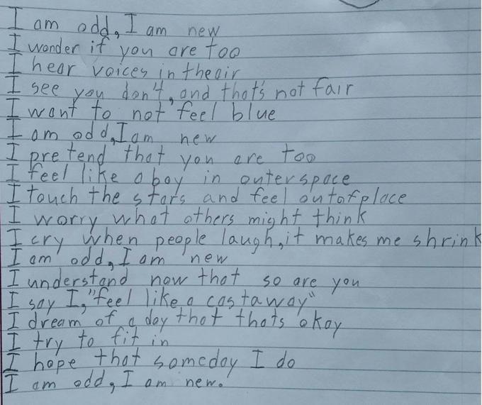 Poema de Benjamin (Foto: Reprodução Facebook)