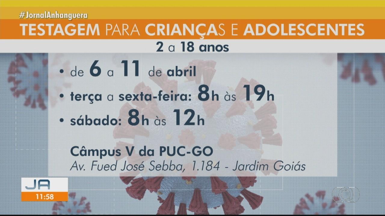 Prefeitura começa a realizar testes da Covid-19 em crianças e adolescentes de Goiânia