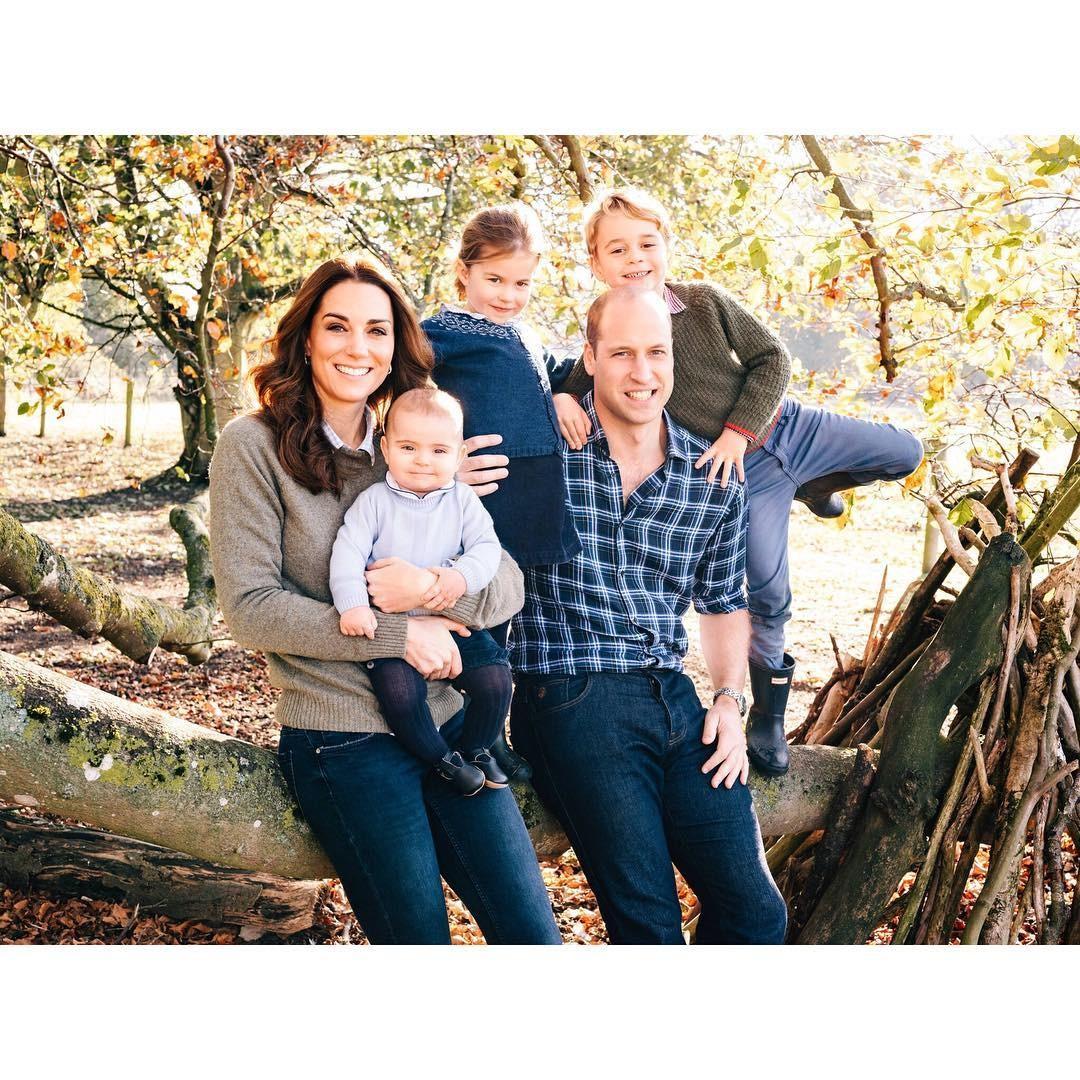 Príncipe William e família (Foto: Reprodução Instagram)