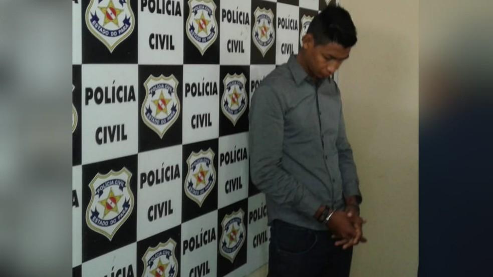 Suspeito de envolvimento na morte do colombiano John Jairo, foi preso nesta quarta (27), em Santarém  — Foto: Débora Rodrigues/TV Tapajós