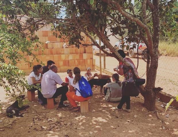 Voluntários de Belo Horizonte (MG) vão todos os dias até Brumadinho (Foto: ONG NaAção)