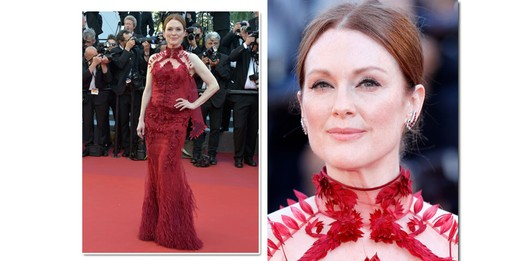 Julianne Moore, 56 anos, de Givenchy Haute Couture