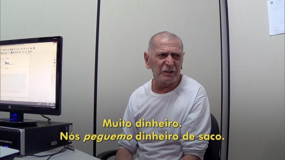Golpista, que também é acusado de roubo, diz ter pego muito dinheiro — Foto: Rede Globo/Reprodução