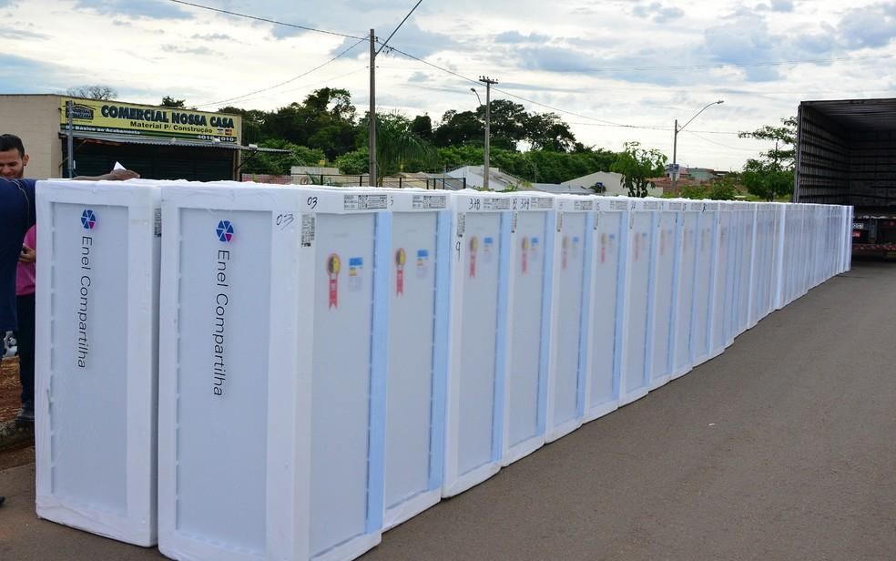 Enel sorteia 100 geladeiras para moradores do Jardim Novo Mundo (Foto: Enel/Divulgação)