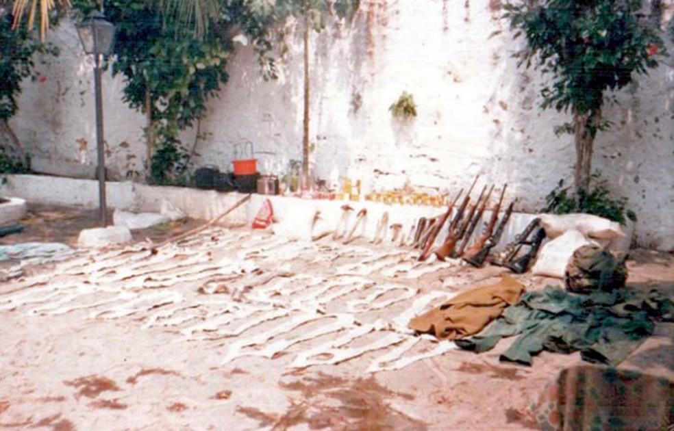 Na década de 1980, o combate à caça no Pantanal era feito apenas com um contingente pequeno da Polícia Militar, um dos motivos pelos quais o governo decidiu criar a Polícia Militar Ambiental (PMA) — Foto: Arquivo pessoal/Ângelo Rabelo