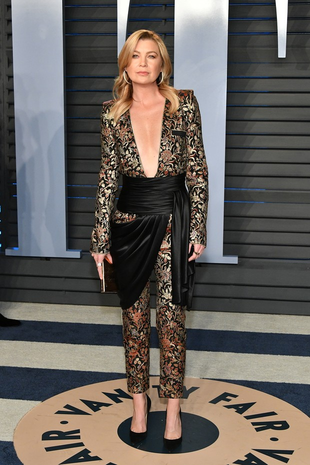 BEVERLY HILLS, CA - MARCH 04:  Ellen Pompeo attends the 2018 Vanity Fair Oscar Party hosted by Radhika Jones at Wallis Annenberg Center for the Performing Arts on March 4, 2018 in Beverly Hills, California.  (Photo by Dia Dipasupil/Getty Images) (Foto: Getty Images)