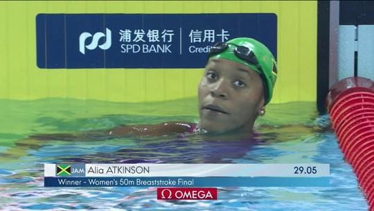 Alia Atkinson leva o ouro nos 50m peito do Mundial de piscinas curtas