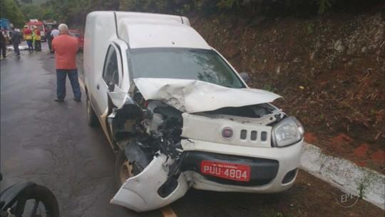 Homem morre e três pessoas ficam feridas em acidente na MG-167, em Três Pontas