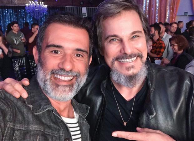 Marcos Pasquim e Edson Celulari (Foto: Reprodução/Twitter)