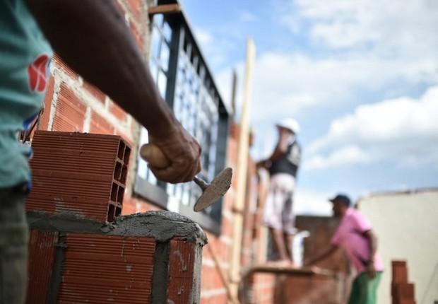 Construção civil ; trabalho ; emprego ; população do Brasil ; empregado ; trabalhador ;  (Foto: André Borges/Agência Brasil)