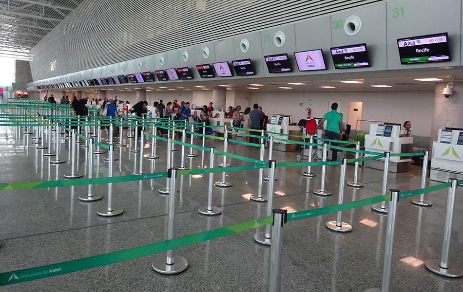 Movimento de passageiros no Aeroporto de Natal cresce 8,7% em dezembro de 2018
