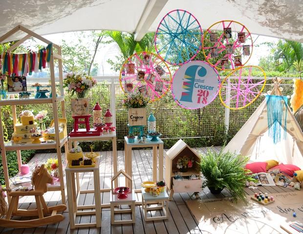 """A decoração do evento foi uma amostra da """"Magia das Cores"""", tema do Festival Crescer  (Foto: Raquel Espírito Santo)"""