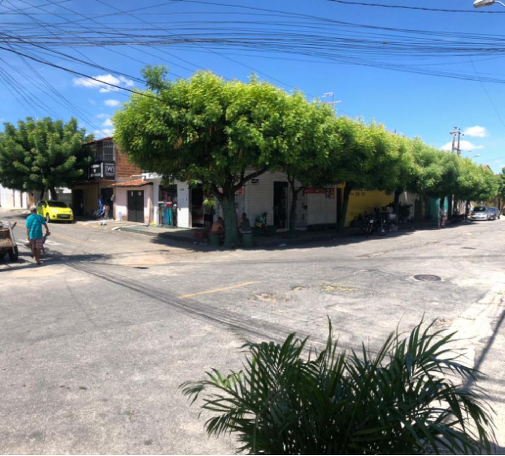 Mercadinho fica na Rua Reriutaba, no Vila Velha, em Fortaleza. — Foto: Ygor Castro/Arquivo Pessoal