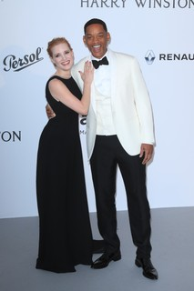 Jessica Chastain (de Prada) e Will Smith