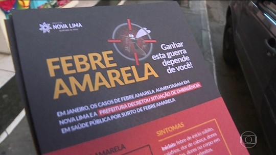 MG decreta emergência por febre amarela em 94 cidades