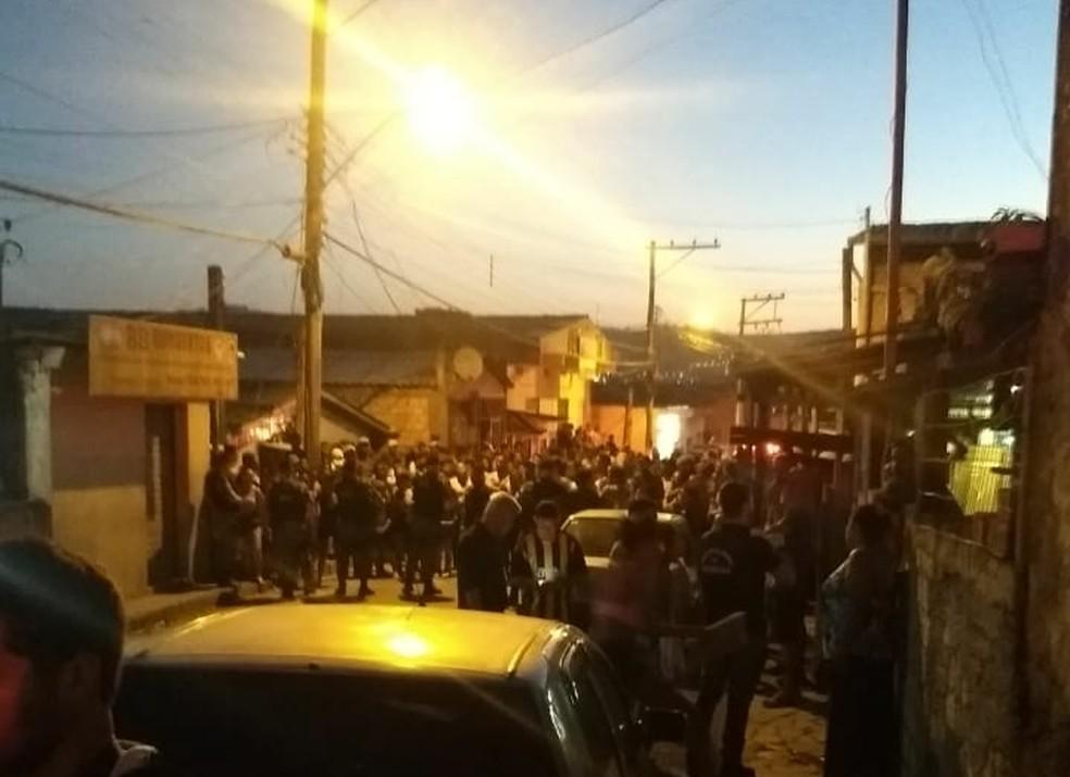 Tiroteio deixou dois mortos no bairro Bom Jesus. Crianças ficaram feridas — Foto: Divulgação/Polícia Civil