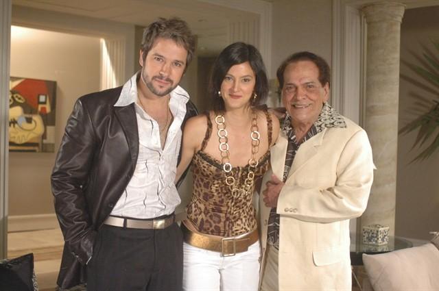 Na novela A Favorira (2008), Lúcio Mauro interpretou Sabiá e contracenou com Murilo Benício e Cláudia Missura (Foto: Divulgação/TV Globo)