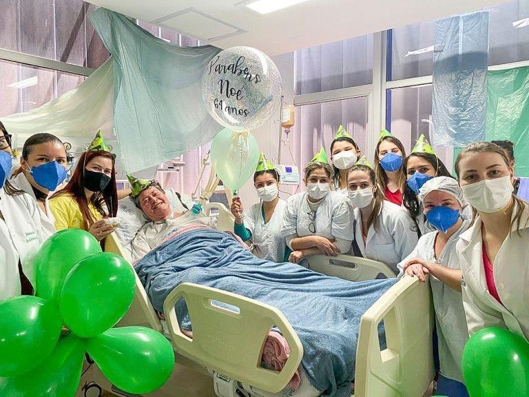 Paciente recebe alta da UTI após 369 dias internado, em Ponta Grossa