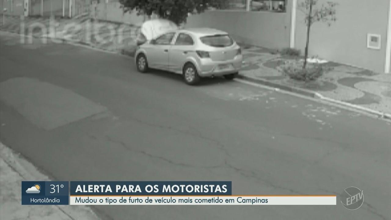 Levantamento de janeiro a agosto mostra média de 7 veículos roubados por dia em Campinas