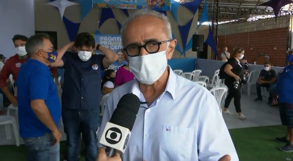Cícero Lucena promete entregar medicamentos em domicílio para hipertensos em João Pessoa — Foto: TV Cabo Branco/Reprodução