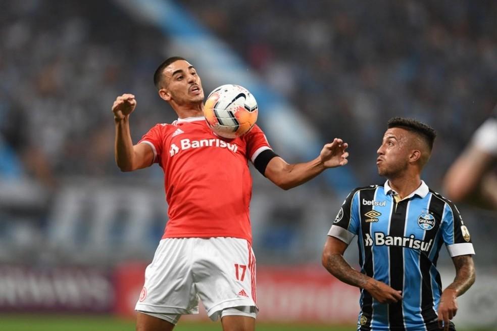 Thiago Galhardo já marcou quatro gols em 2020 — Foto: Ricardo Duarte/Inter