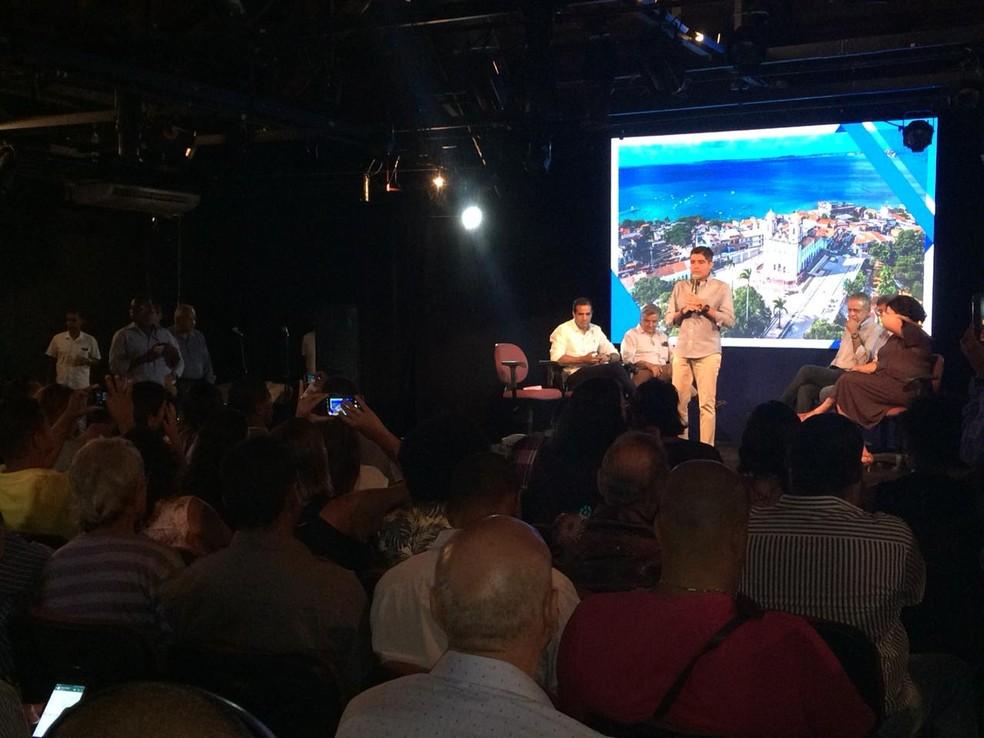 Evento em Salvador anuncia atrações para as comemorações do aniversário de Salvador — Foto: Alan Oliveira/G1 Bahia