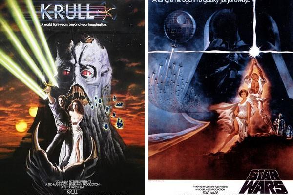 Pôsteres de Krull e Star Wars - Uma Nova Esperança (Foto: Reprodução)