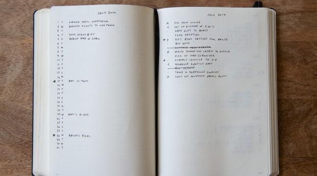 Modelo do bullet journal criado por Carroll é mais simples (Foto: Divulgação)