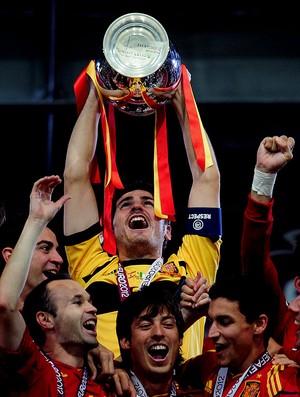 casillas Espanha itália final campeã eurocopa (Foto: Agência Getty Images)