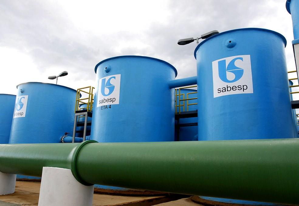 Estação de tratamento de água da Sabesp  — Foto: Gilberto Marques/Governo do Estado de SP
