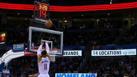Westbrook faz 11 triplos-duplos seguidos, quebra recorde e vira o cara da semana na NBA