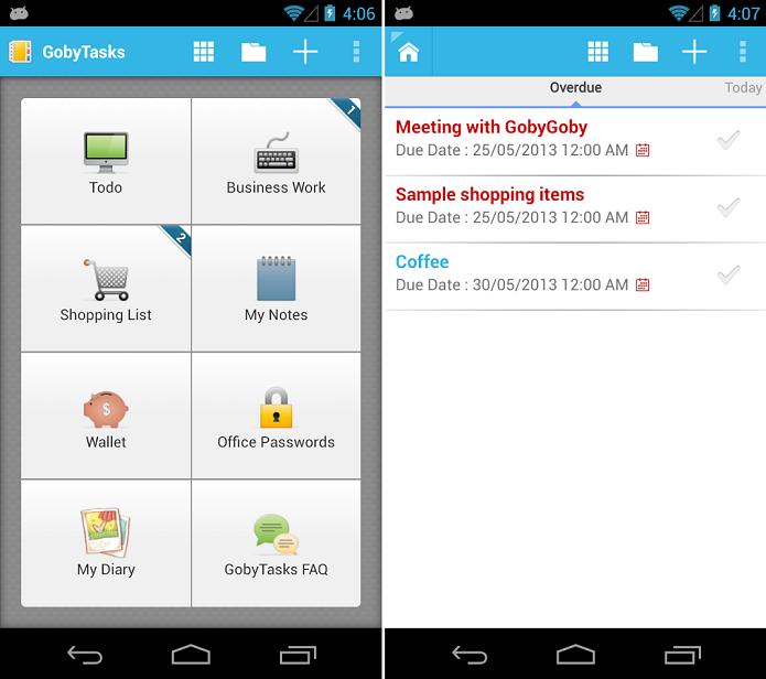 GobyTask To-do list é um app para fazer anotações no Android (Foto: Divulgação)