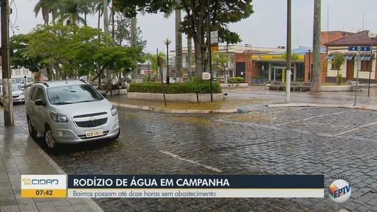 Moradores enfrentam rodízio de abastecimento de água em 19 bairros de Campanha, MG