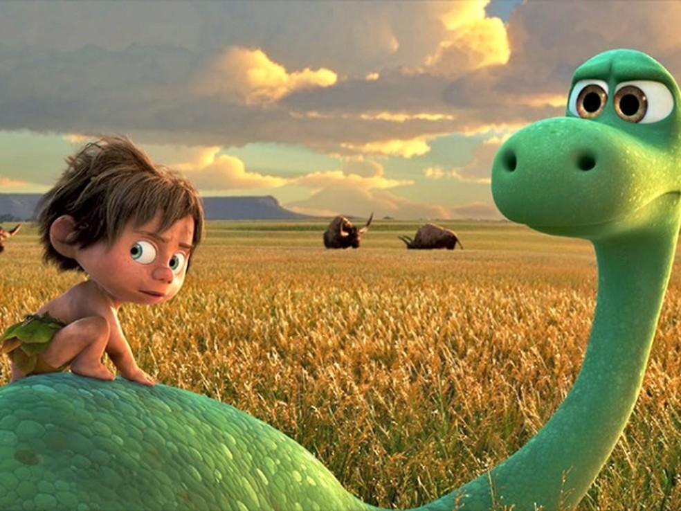 Animação 'O Bom Dinossauro' também está em  cartaz no cinema de Rio Branco (Foto: Divulgação)
