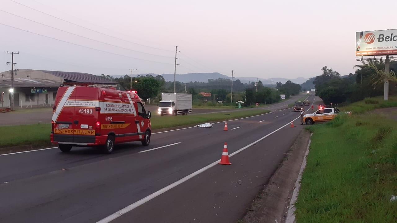 Mulher de 73 anos morre após ser atropelada na ERS-122 em São Sebastião do Caí