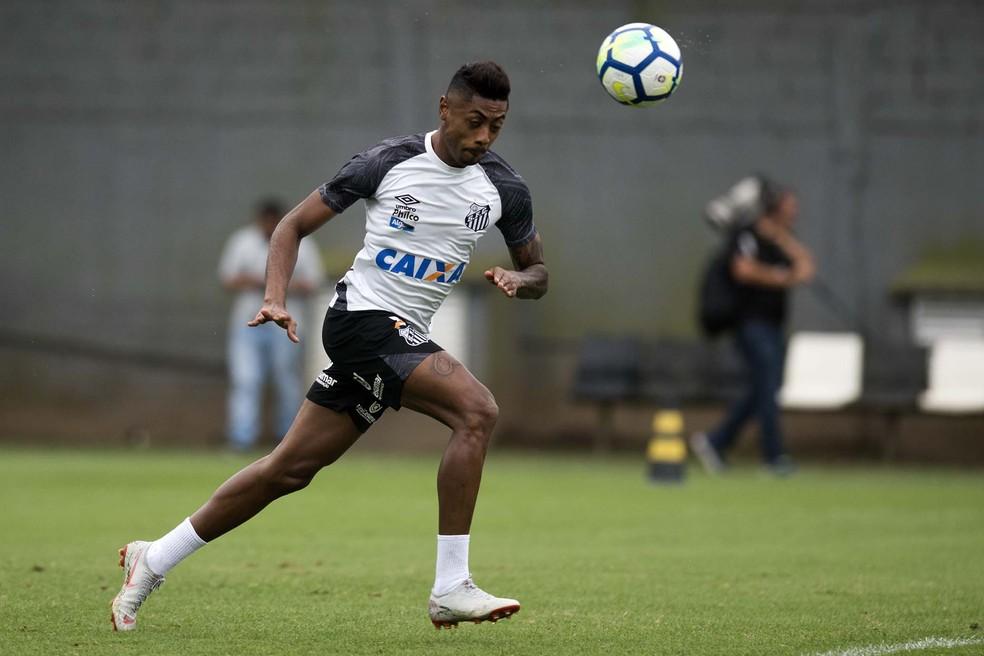 Com o desejo de ir para o Flamengo, Bruno Henrique irá ao CT Rei Pelé nesta quarta-feira — Foto: Ivan Storti/Santos FC