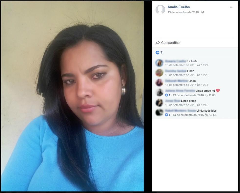 Vítima do crime em Itaipé teve corpo encontrado junto ao filho e marido (Foto: Reprodução / Facebook)