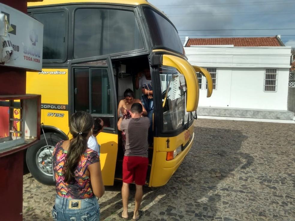 Mãe deu à luz dentro de ônibus com ajuda do Samu no Piauí. — Foto: Arquivo pessoal
