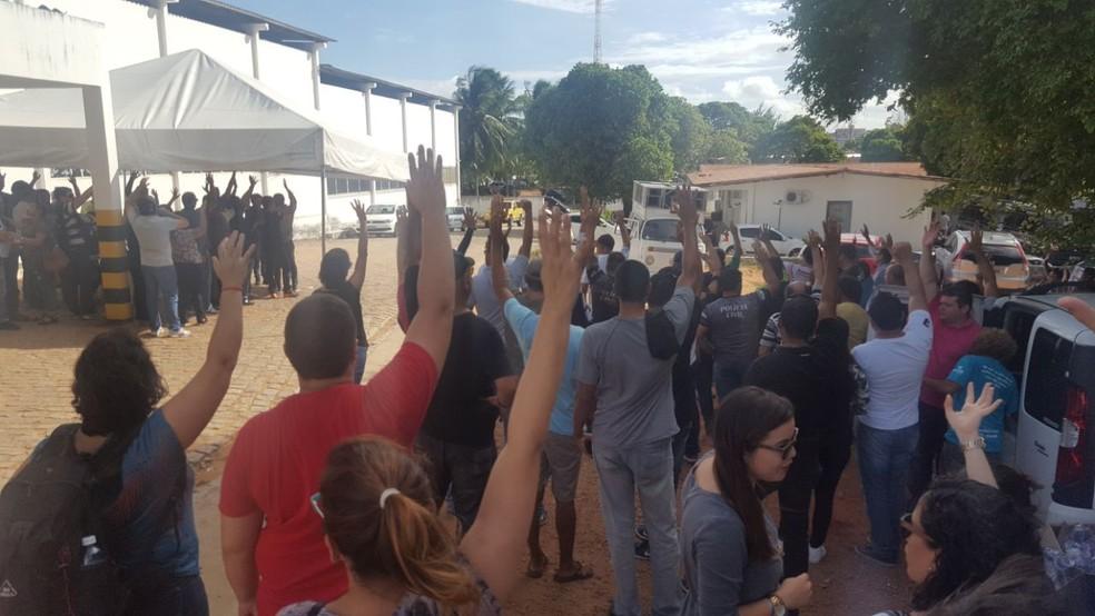 Policiais civis do RN decidiram em assembleia nesta quinta (21) pela manutenção do trabalho em regime de plantão (Foto: Sinpol/Divulgação)