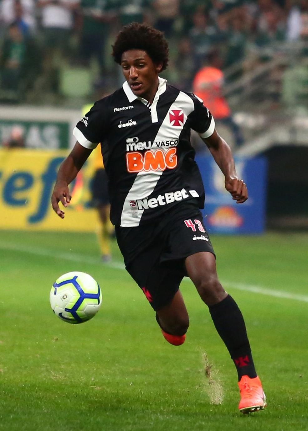 Talles Magno não foi liberado pelo Vasco para defender a seleção sub-17 — Foto: Carlos Gregório Júnior/Vasco