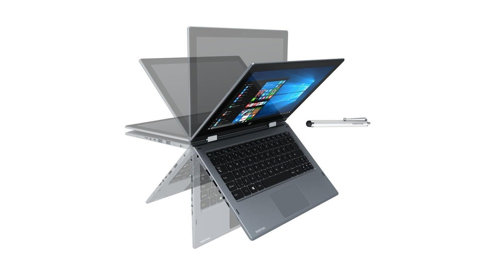 Positivo Duo é um notebook conversível com caneta stylus — Foto: Divulgação/Positivo