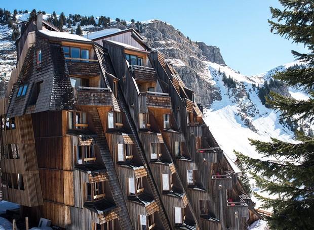 O Hôtel des Dromonts, na França, é dedicado à pratica de esportes de inverno e à gastronomia (Foto: Divulgação)