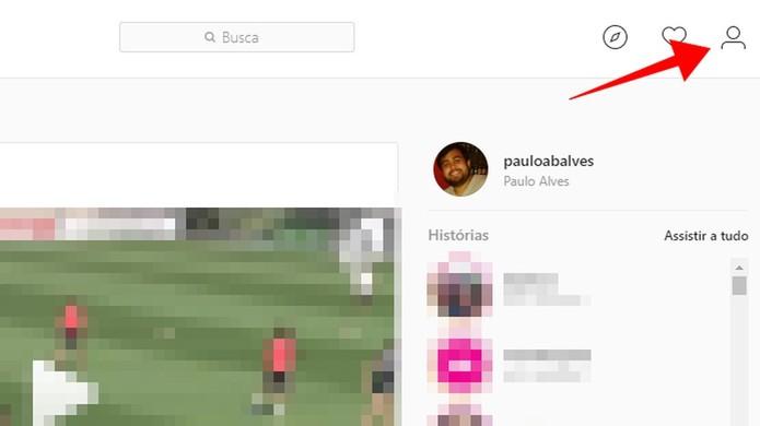 Acesse seu perfil do Instagram na web (Foto: Reprodução/Paulo Alves)