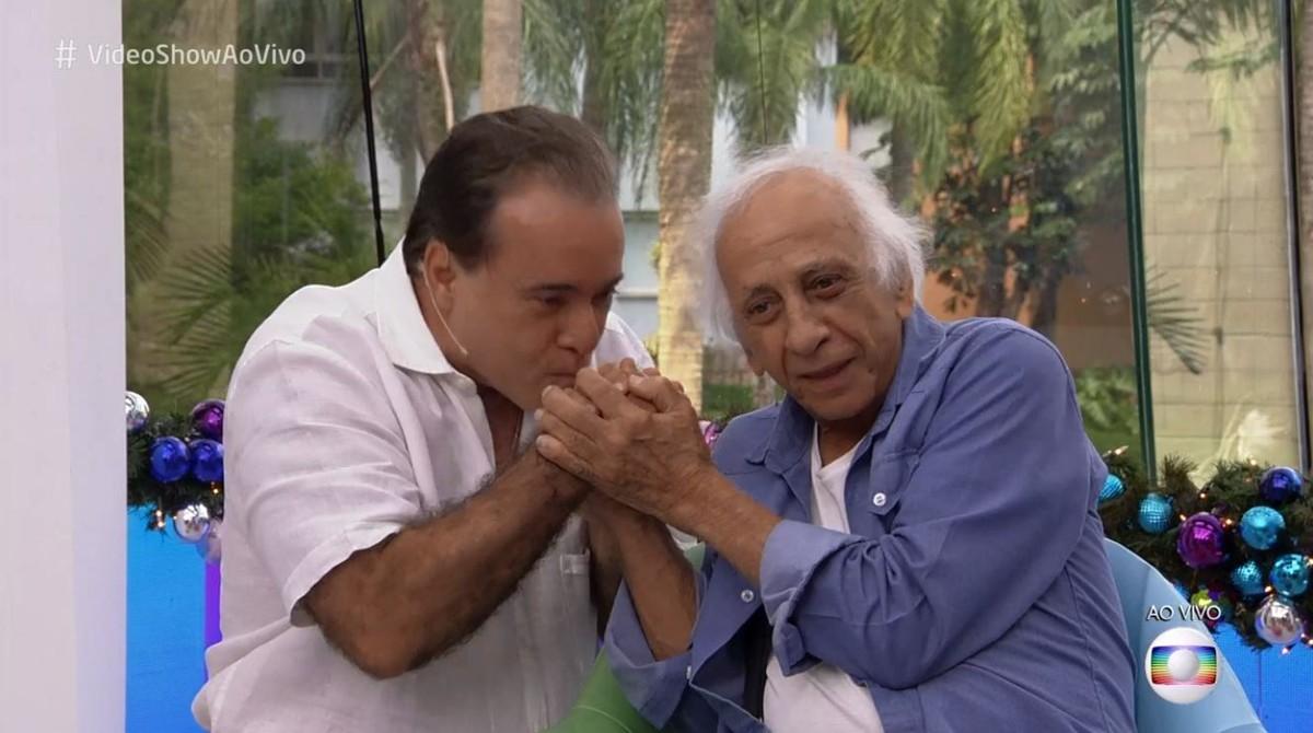 Tony Ramos 'invade''Vídeo Show' para homenagear Flávio Migliaccio ...