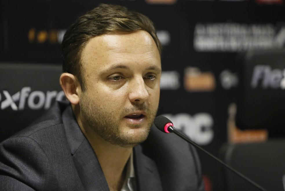 André Mazzuco, executivo de futebol do Vasco, foi um dos responsáveis por montar o atual elenco — Foto: Rafael Ribeiro/Vasco da Gama