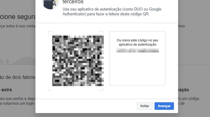 O Facebook aceita também aplicativos especializados em autenticação em dois fatores (Foto: Reprodução/Paulo Alves)