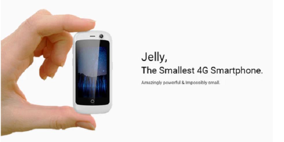 Jelly é o menor smartphone do mundo (Foto: Divulgação/Kickstarter)