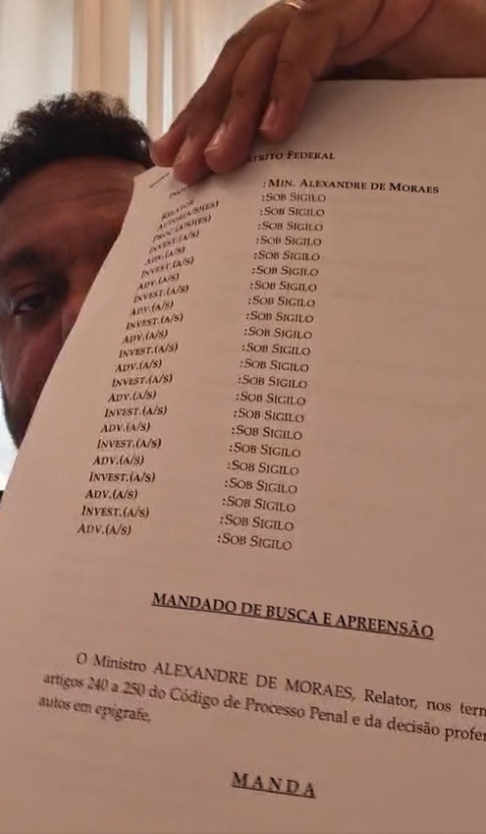 Mandado da PF contra deputado federal Otoni de Paula (PSC-RJ) — Foto: Reprodução Facebook/OtoniDeputadoFederal